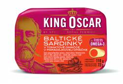 Balt. sardinky v tom.om. 110g KING OSCAR (red)